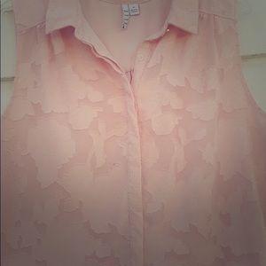 Elle button down blouse, peach size XL
